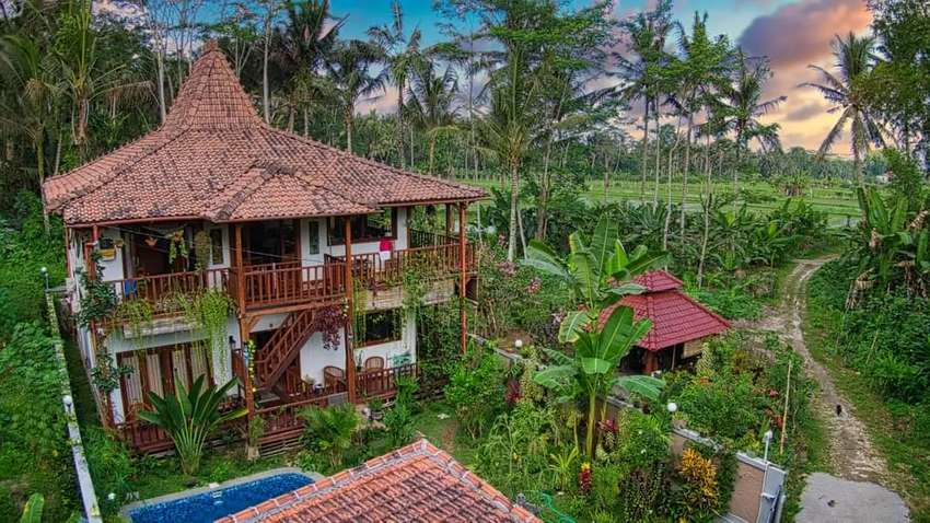 Di jual villa view sawah di pejeng ubud