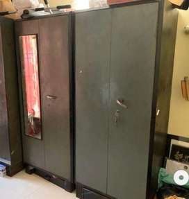2 old pure metal wardrobes with think sheets