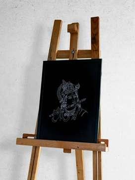 Krishna | Metal Engraving | Unique artwork
