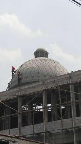 Pengerjaan Detail Jasa Pembuatan Kubah Masjid GRC Ahli dan Hasil Rapi