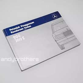 Buku Owners Manual Book Mercedes Benz Mercy E-Class w124 1986- 92 ORIG