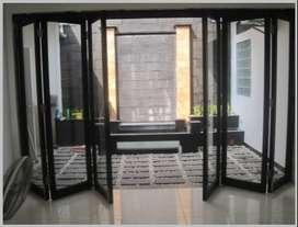 spesialis agen pintu lipat kaca aluminium kualitas dan harga murah/757
