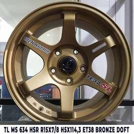 Velg Mobil Lampung TL MS 634 HSR R15X78 H5X1143 ET38 BRONZE DOFT