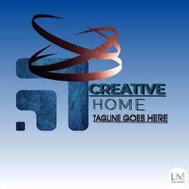 Logo designer creative and attractive
