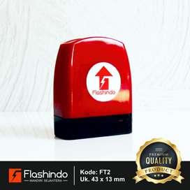 Flashindo Stempel Warna Tapal Kuda   Ukuran 43 x 13 mm   Stempel Flash