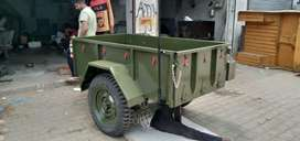 Hand made trolly for jeep