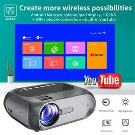 3800 LUMENS T8 YOUTUBE WIFI SMART FULL HD VIDEO PROJECTOR HDMI  USB
