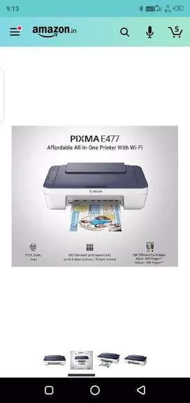 Canon Pixma E477 Ink efficient Wireless All-In-One Printer