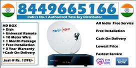 Discount@ Tata Sky HD Connection- Airtel DTH Tatasky Dish tv(COD)