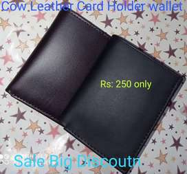 Genuine Cow Leather Wallet Card holder Size  In Cow