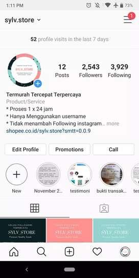 Jual followers instagram 1000 tanpa password