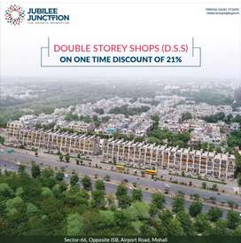 Double Storey Builtup Shop Corner on Airport Road Sector 66 Mohali.
