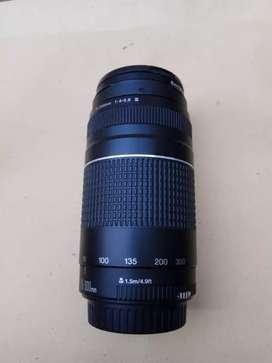 Jual lensa canon zoom mulus 75-300mm