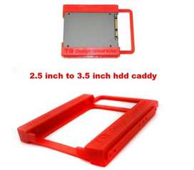 "PTC Caddy / Bracket untuk SSD / Hardisk HDD Notebook 2.5"" ke PC 3.5"""