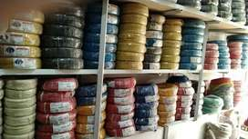 Electric cables,Brakers ,Inverter ,Moters all electrical accessories.