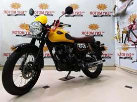 03 - Kawasaki w175 cafe 2019 yellow vibes! Dp termurah