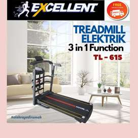 treadmill elektrik TL-615 G-45 alat olahraga lari