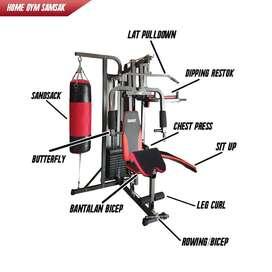 Alat Fitness Home Gym 3 Sisi + Samsak BISA COD HARGA DISKON