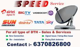 For all type of DTH –SET-UP BOX Sales & Services