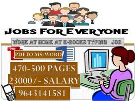 Offline Novels related data typing job salary