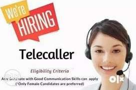 We r haring female telecaller