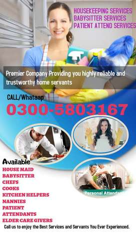 Hire Best 100% Reliable HOME SERVANTS at your Doorstep