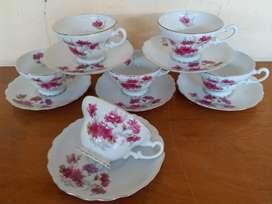 6 set cangkir bunga seruni