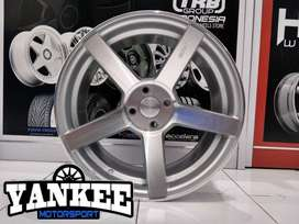 Cicil Velg Mobil DP 10% HSR Wheel NE3 Ring 17 Pcd 4x100 SMF
