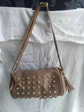 Leather Golden bag