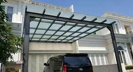 Canopy kaca desain rumah minimalis
