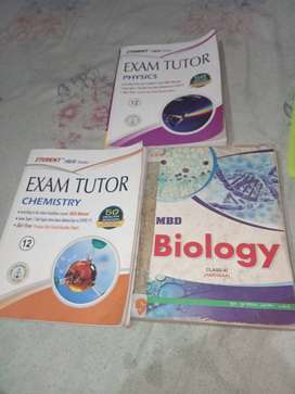 Class 11th guide bio + class 12th exam tutor physics and chemistry