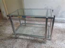Stainless steel glass tea table