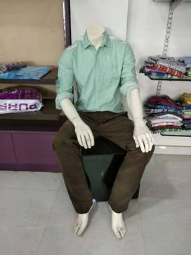 Male Mannequin Sitting (Solid) for Sale