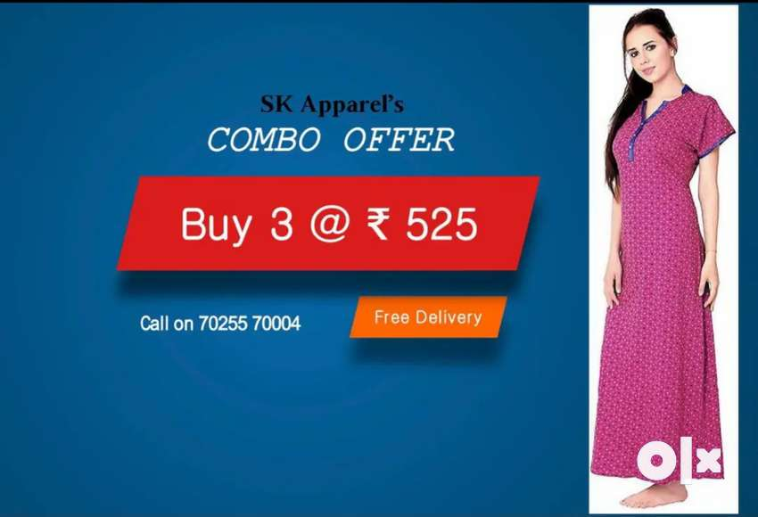 Cotton Nighty (Combo offer) 0