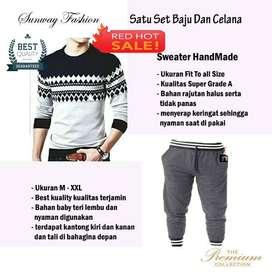 AM00186 Celana Setelan Satu set Sweater dan celana jogger