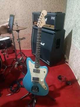 gitar listrik fender jazz warna biru