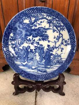 piring keramik antik tua mulus