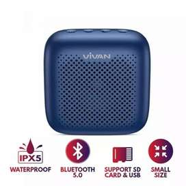 VIVAN Speaker Bluetooth 5.0 Outdoor Waterproof Support SD Card VS1