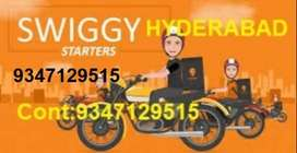 swiggy food delivery with full or part time and weekends