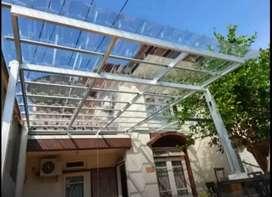 kanopi baja ringan dengan macam atap spandek