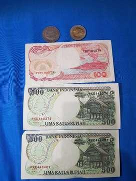 uang kuno 100 logam tahun 1978 1000 logam tahun 1996 100 kertas tahun