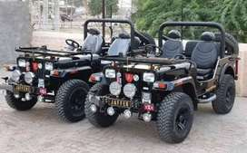 Modified black stylish willy jeeps