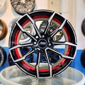 Velg Mobil AMW AO12 R15 Hole 8x100 untuk Datsun Go, Go+, Panca