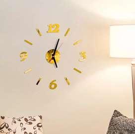 Jam dinding motif garis angka