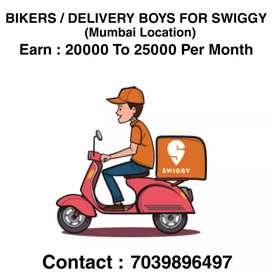 Delivery boys Required for Swiggy Food Delivery App