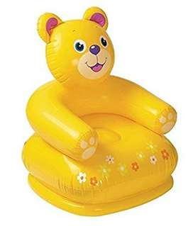 Inflatable Sitting Sofa Chair Teddy Bear -Yellow