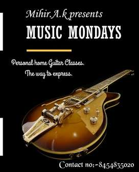 Personal home Guitar Classes for beginners.