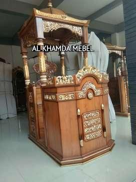 Ready Mimbar Masjid Material Kayu Jati Berkualitas @784