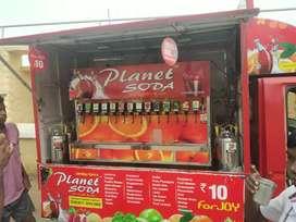 Planet soda vehicle