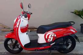 Honda Scoopy putih merah di djayamotor melayani kredit dan cash